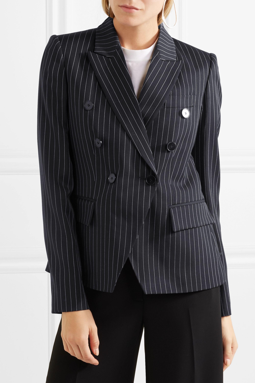 Stella McCartney Double-breasted pinstriped wool-blend blazer