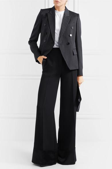 Stella McCartney Doppelreihiger Blazer aus einer Wollmischung mit Nadelstreifen