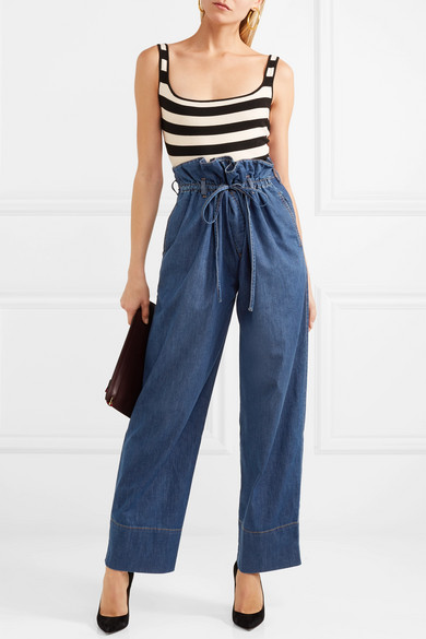 Stella McCartney Benni hoch sitzende Jeans mit weitem Bein