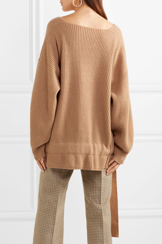 Stella McCartney Gerippter Oversized-Pullover aus einer Kaschmir-Wollmischung