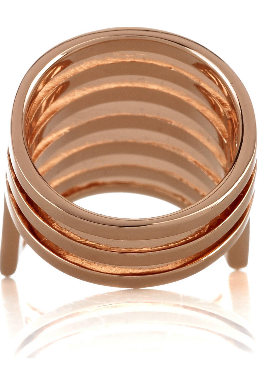 Dominic Jones Cage 22-karat rose gold-plated ring