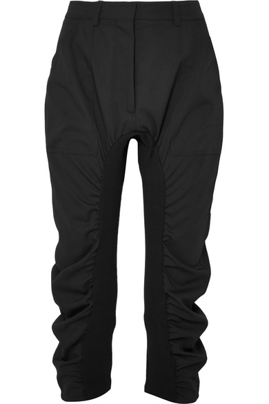 Stella Mccartney Tina Pants From Wool-twill With Jersey-use