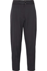 Stella McCartney Cropped pinstriped wool-blend twill slim-leg pants