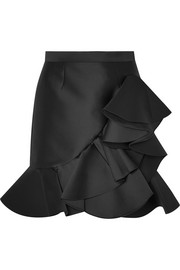 Stella McCartney Ruffled satin mini skirt