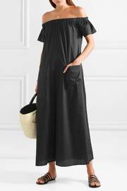 Mara Hoffman Blanche off-the-shoulder organic cotton-twill jumpsuit