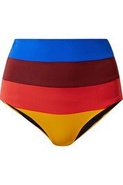 Mara Hoffman Lydia high-rise striped bikini briefs