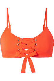 Mara Hoffman Scarlett lace-up bikini top