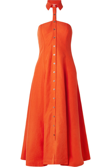 Mara Hoffman Veronique Halter-dress In A Tencel® Linen Blend
