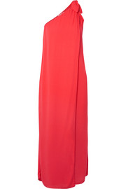Camilla one-shoulder layered voile dress