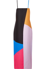 Mara Hoffman Sena color-block organic cotton-voile maxi dress