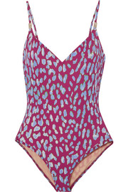 On The Island By Marios Schwab Asterias leopard-print swimsuit