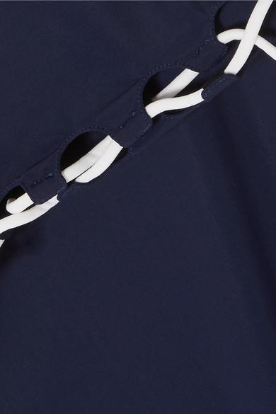 On The Island By Marios Schwab Agonda Badeanzug mit asymmetrischer Schulterpartie und Schnürung