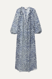 On The Island By Marios Schwab Bonaire printed silk-georgette maxi dress