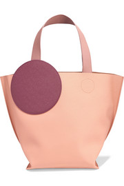Eider color-block textured-leather tote