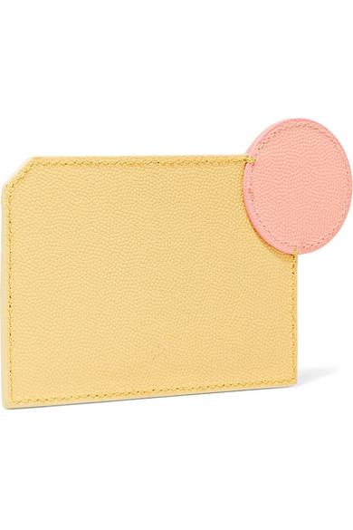 Roksanda Kartenetui aus strukturiertem Leder in Colour-Block-Optik
