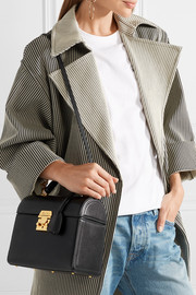 Sara textured-leather tote
