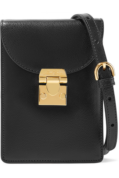Mark Cross - Josephine Textured-leather Shoulder Bag - Black