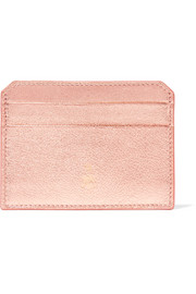 Mark Cross Metallic textured-leather cardholder