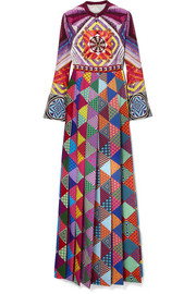 Mary Katrantzou Desmine printed crepe de chine maxi dress