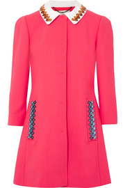 Mary Katrantzou Mason embellished wool-blend coat