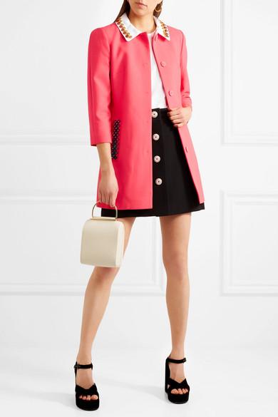 Mary Katrantzou Mason verzierter Mantel aus einer Wollmischung