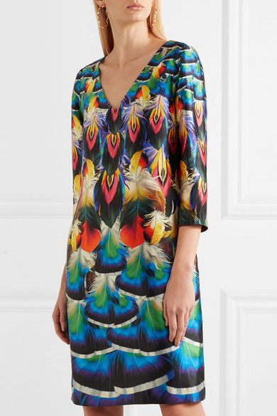 Mary Katrantzou Shea Dress In Printed Silk-faille