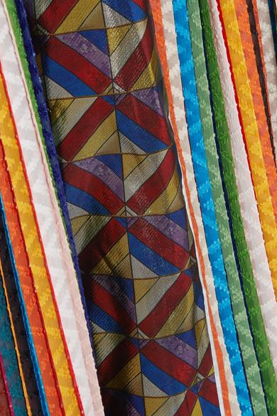 Mary Katrantzou Lapwing Maxikleid aus Lurex® aus einer Seidenmischung und Chiffon mit Fil Coupé und Plissee