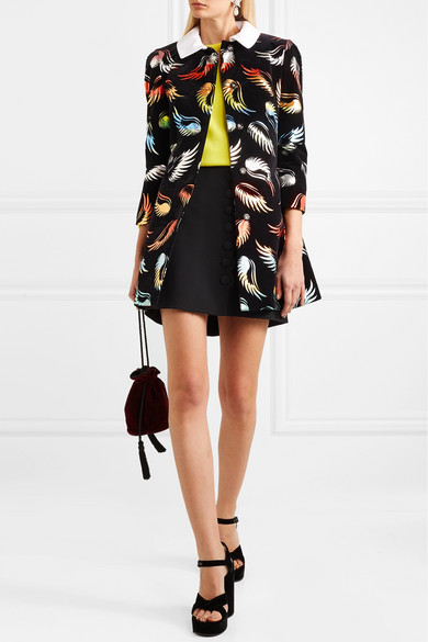 Mary Katrantzou Mason Coat Of Flocked Jacquard