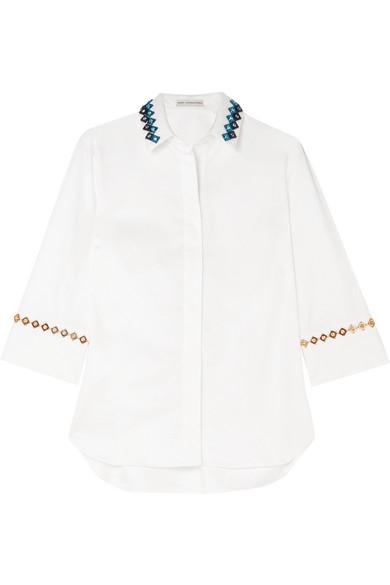 Mary Katrantzou Rita verziertes Hemd aus einer Baumwollmischung
