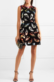 Mary Katrantzou Sparrow flocked jacquard mini dress