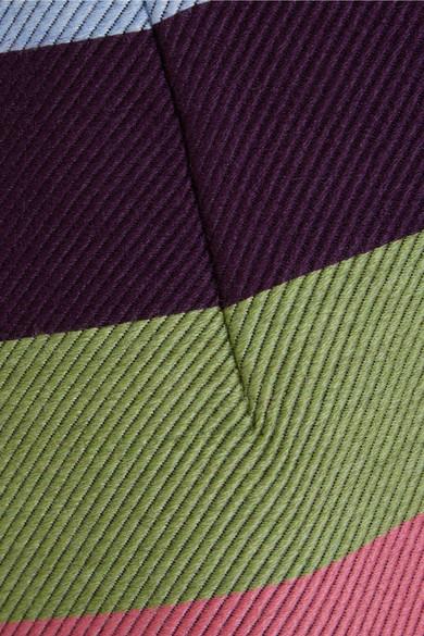 Mary Katrantzou Sigma gestreifter Midirock aus Twill aus einer Wollmischung