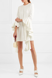 Kilkenny ruffled crepe mini dress