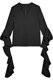 Ace ruffled crepe top