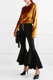 Hysteria cropped high-rise flared jeans