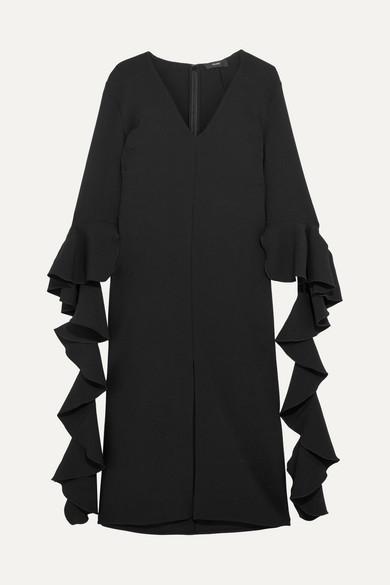 Ellery - Reuben Ruffled Crepe Midi Dress - Black