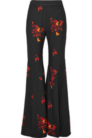 Ellery Higher And Higher floral-print crepe flared pants