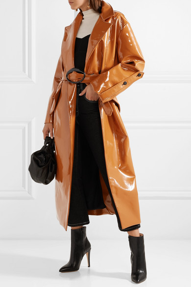 Ellery Nine to Five Pod Trenchcoat aus Vinyl