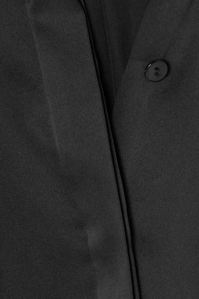 Hillier Bartley Bluse aus vorgewaschener Seide mit Fransen