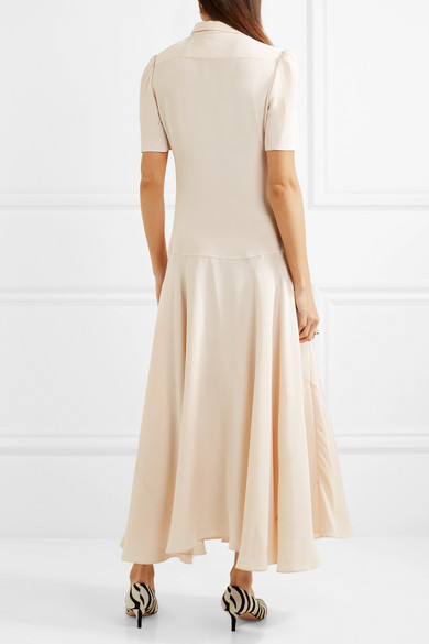 Plimpton Silk-crepe Midi Dress - Cream Hillier Bartley Supply Online Discount Huge Surprise Cheap Sale Best Discount Low Cost Clearance 2018 Newest LL1HNEQ
