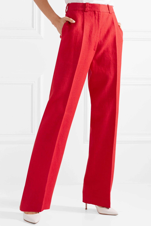Hillier Bartley Linen straight-leg pants