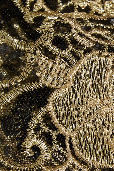 Marchesa Notte Verzierte Robe aus Tüll mit Stickerei