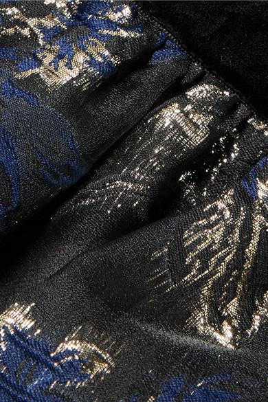 Marchesa Notte Gestufte Robe aus schnurgebundener Spitze und Brokat Geniue Händler I26WEYR