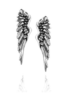 Giles%20&%20Brother Sterling%20silver%20wing%20earrings