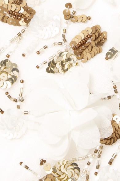 Marchesa Notte Verziertes Minikleid aus Tüll
