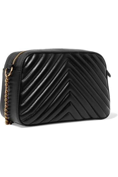 Stella Mccartney Camera Bag In Quilted Imitation Leather With Ornament