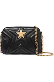 Stella McCartney Embellished quilted faux leather camera bag