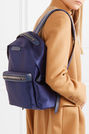 Stella McCartney The Falabella GO faux leather-trimmed satin backpack