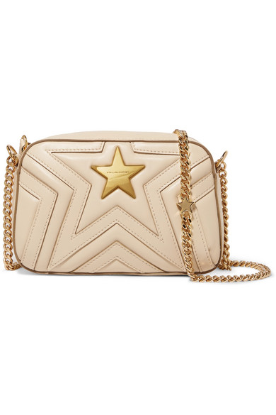 Stella McCartney - Quilted Faux Leather Shoulder Bag - Cream