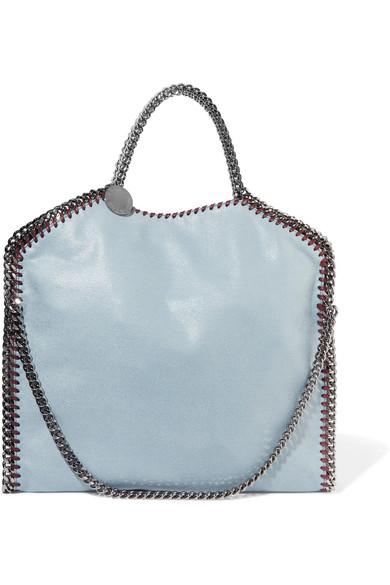 3146f4cfac9c Stella Mccartney The Falabella Medium Faux Brushed-Leather Shoulder Bag In  Light Blue