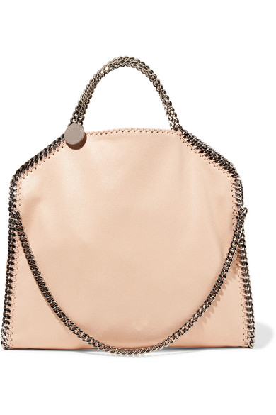 35e9d2525c STELLA MCCARTNEY THE FALABELLA MEDIUM FAUX BRUSHED-LEATHER SHOULDER BAG